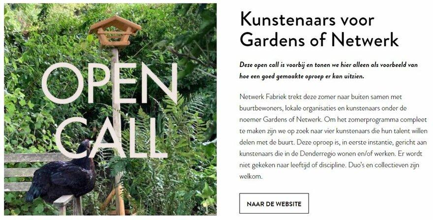 Open call Gardens of Netwerk